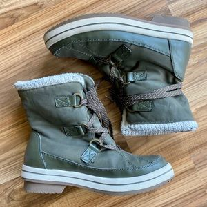 Aldo Winter Boots Olive Green